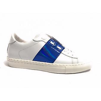 Мужская/Женская обувь Tony Wild Кроссовки Кожа Белая Фольга Синий Us17tw09