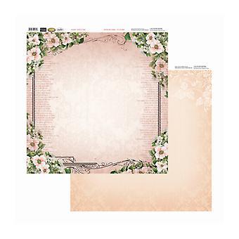 Couture Creations - Ram av rosor 12x12 tum dubbelsidiga förpackningar med 10 ark