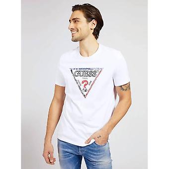 Guess Triangle Logo camiseta - True White