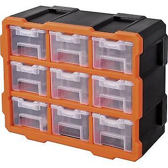 Alutec Assortment case set (L x W x H) 38 x 17 x 32 mm variable compartments 9 Parts