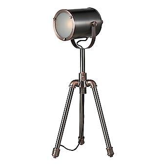 DAR JAKE Aufgabe Tischlampe Antik Silber und Kupfer