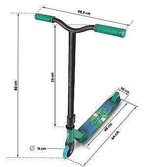 Stuntstep Street Style - 64x10x83 cm - Groen Blauw