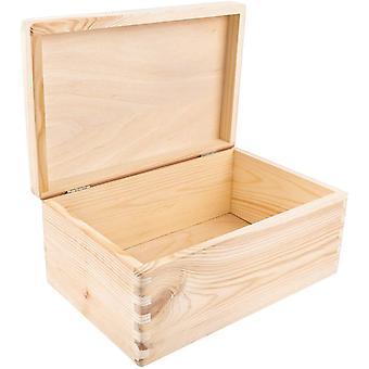 FengChun Große Holzkiste mit Deckel | 30 x 20 x 14 cm (+/- 1 cm) | Weihnachten Kiste | Klein Holzbox