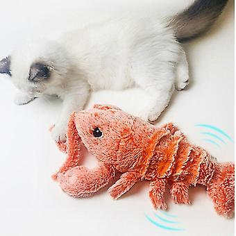 Electronic Cat Toy For Cats Pet Playing Electric USB Charging Simulation Lobster Shape