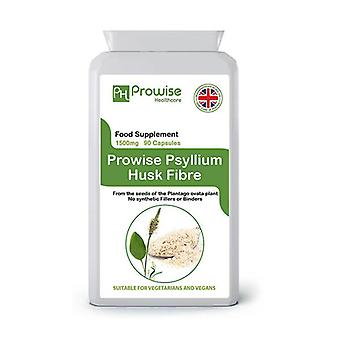 Psyllium Husks 750mg 90 Capsules | Suitable For Vegetarians & Vegans | Made In UK by Prowise