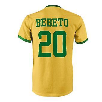 Bebeto 20 Brasilien land ringer t-shirt