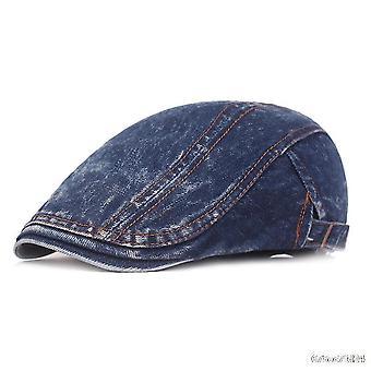 וינטג' ג'ינס ברט שטוח כובע אביב קיץ כובע נוער