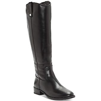 INC International Concepts Womens Fawn WIDE CALF Leather Almond Toe Knee High Fashion Boots
