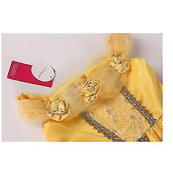 120Cm vianočný večierok fantázie kostým deluxe princezná zdobiť pre dievčatá x1628