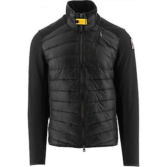 Parajumpers Black Jayden Fleece Nylon Jacket