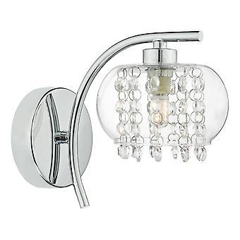 DAR ELMA Cristallo Single Wall Light Lucido Chrome & Glass