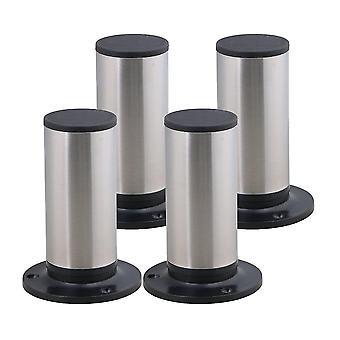 Для 4шт нержавеющая сталь Регулируемая мебель Ноги Ноги Ноги Ноги 85 * 120 мм WS558