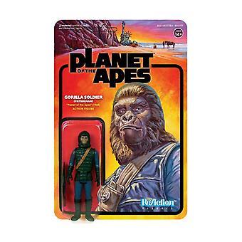 Planet of the Apes ReAction Action Figure Gorilla Soldier (Patrolman) 10 cm