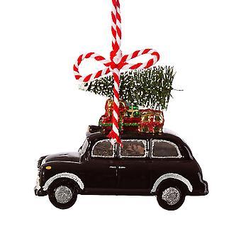 Sass & Belle London Christmas Black Cab vormige kerstbal