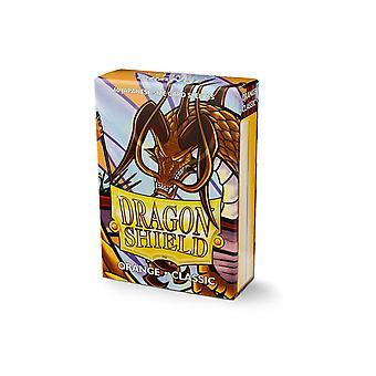 Dragon Shield Japoński rozmiar Pomarańczowe rękawy karty - 60 rękawy