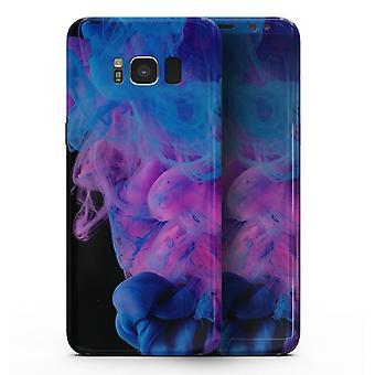 Glowing Pink And Blue Cloudswirl - Samsung Galaxy S8 Full-body Skin