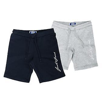 Boy's Jack Jones Junior Leon 2 Pack Shorts in Blue