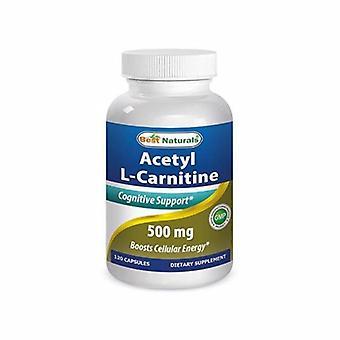 Paras Naturals Asetyyli L-karnitiini, 500 mg, 120 Korkkia
