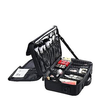 Portable Makeup Brushes Storage Bag With Adjustable Dividers(S)