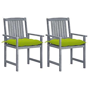 כיסאות מנהל vidaXL עם כריות 2 יח'.