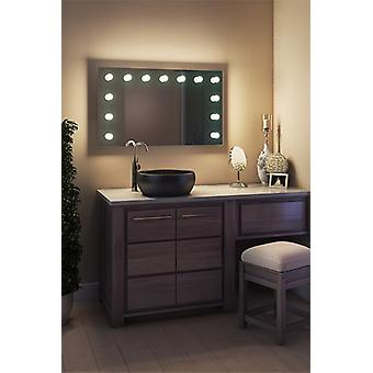 Diamant X Wallmount Hollywood Make-up Spiegel & dimmbare LED k91CWbath