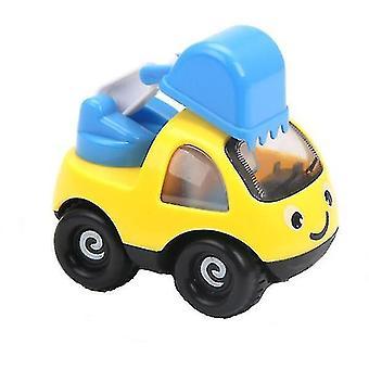 Pojat ja tytöt mini sarjakuva suunnittelu ajoneuvon inertia automalli (keltainen)