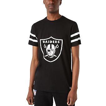 New Era Herren Las Vegas Raiders NFL Team Logo Oversized T-Shirt Top T-Shirt - Schwarz