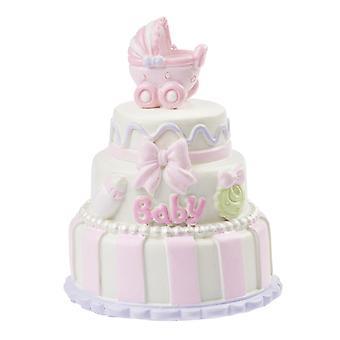 7cm dopkaka för babyflicka för miniatyrvärlds   Baby dusch