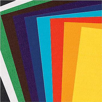 10 olika ark av A4 ljust färgad hantverkss filt - 1mm tjock