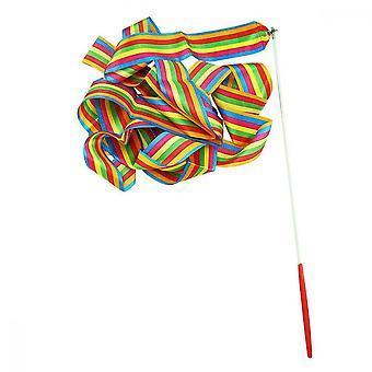 Dance Ribbon, 2pcs Rhythmic Gymnastics Ribbons For Children Baton Rotation, Color