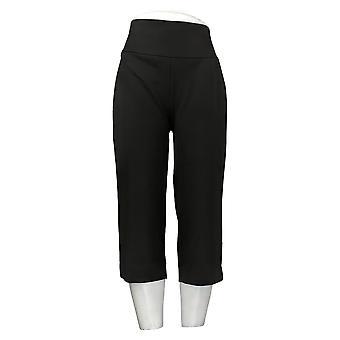 Antthony Women's Pants Boss Lady Tummy Smoothing Pedal Pusher Black 747085