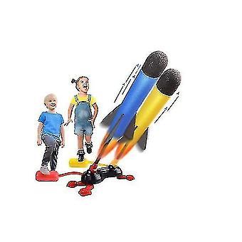 Jouets d'enfants Dueling Rocket Launchers Shoots Up To 100 Feet, foot Launcher Stand