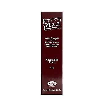 Permanente kleur Man Lisap Nº 18 Silver Light (60 ml)