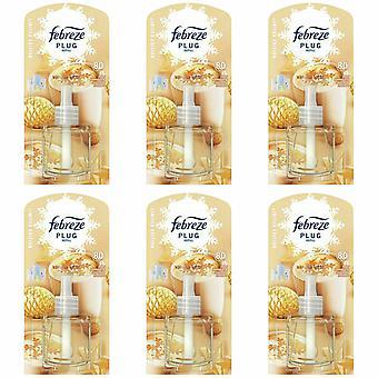 Ambi Pur Plug In Diffuser Vanilla Latte Refill Air Freshener, Pack Of 6, 20ml
