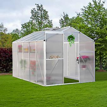 8 x 6 FT Jardin Polycarbonate Walk-In Serre
