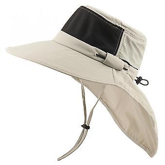Vauva taapero hatut kesä aurinkohattu ämpäri miehet naiset boonie hattu kaula läppä ulkona uv suoja suuri leveä brim vaellus verkko hengittävä