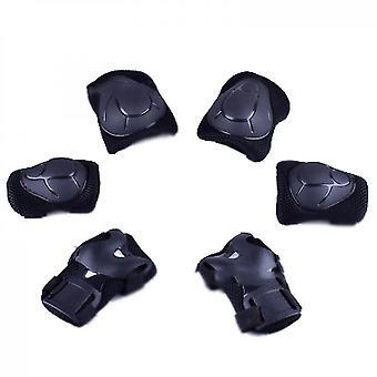 Kinder Schutzausrüstung Set Knieschützer für Kinder (Schwarz)