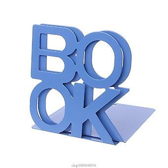 אלפאבית בצורת מתכת bookends ברזל תמיכה מחזיק שולחן עומד עבור ספרים