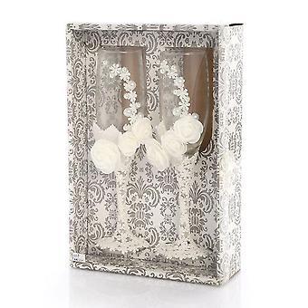 2pcs Hochzeit Champagner Gläser Set Braut Bräutigam Toasting Glas Drink Cup Creative Crystal