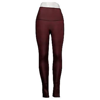 DG2 by Diane Gilman Leggings Slim & Sleek Coated Knit Purple 678576