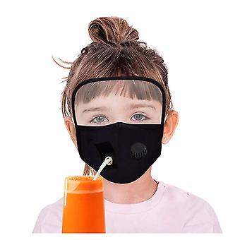 Barn pojkar flickor skydda dammtäta ögon sköld breather dricka hål halmmask