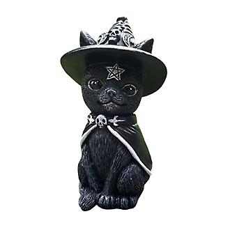 Kissa Halloween nurmikko nasta työpöytäkoriste hauska ulkopuutarha patsas figurine Halloween sisustus