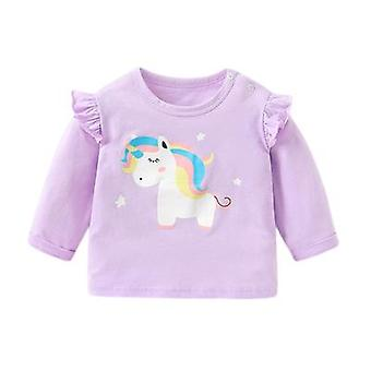 Feminino Bebê de mangas compridas camiseta de camisa bottoming camisa tops