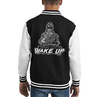 Ik wil u Wake Up ze Live Kid's Varsity Jacket