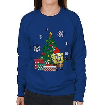 السراويل بوب الأسفنج مربع البلوز شجرة عيد الميلاد للمرأة