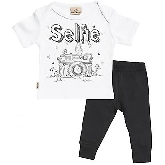 Spoilt Rotten Selfie Baby T-Shirt & Baby Jersey Trousers Outfit Set