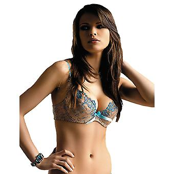 Gracya Eau Lazur Beige and Blue Push Up Bra 121