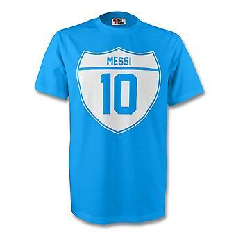 Lionel Messi Argentina Crest Tee (himmel blå)