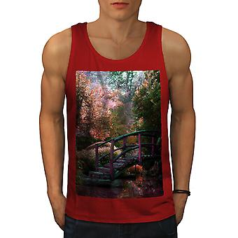 Fantasy Forest Art hommes RedTank Top | Wellcoda