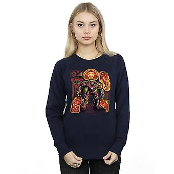 Marvel Women's Avengers Infinity War Hulkbuster Blueprint Sweatshirt
